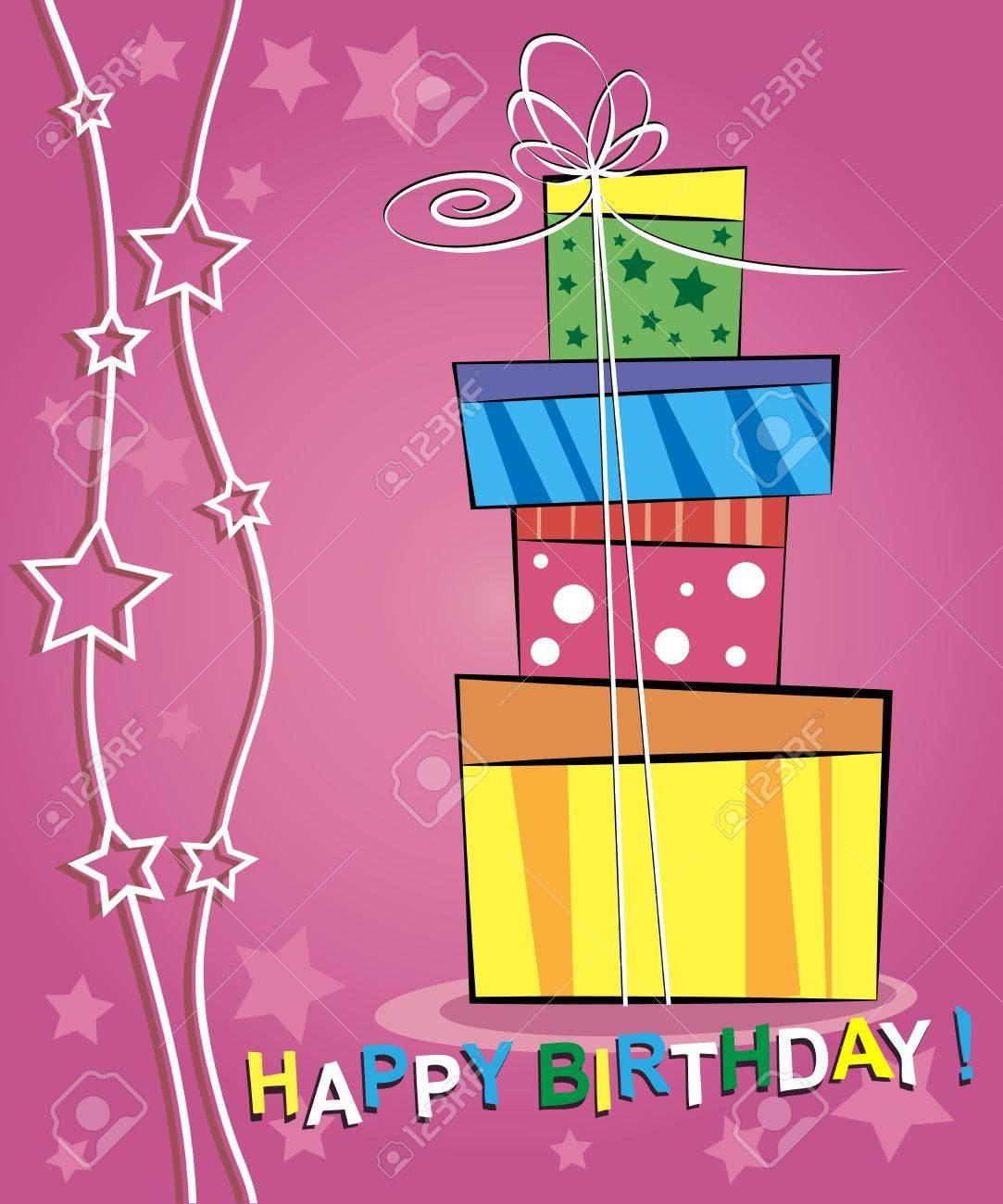 Vector illustration of happy birthday card design Stock Vector - 16062130