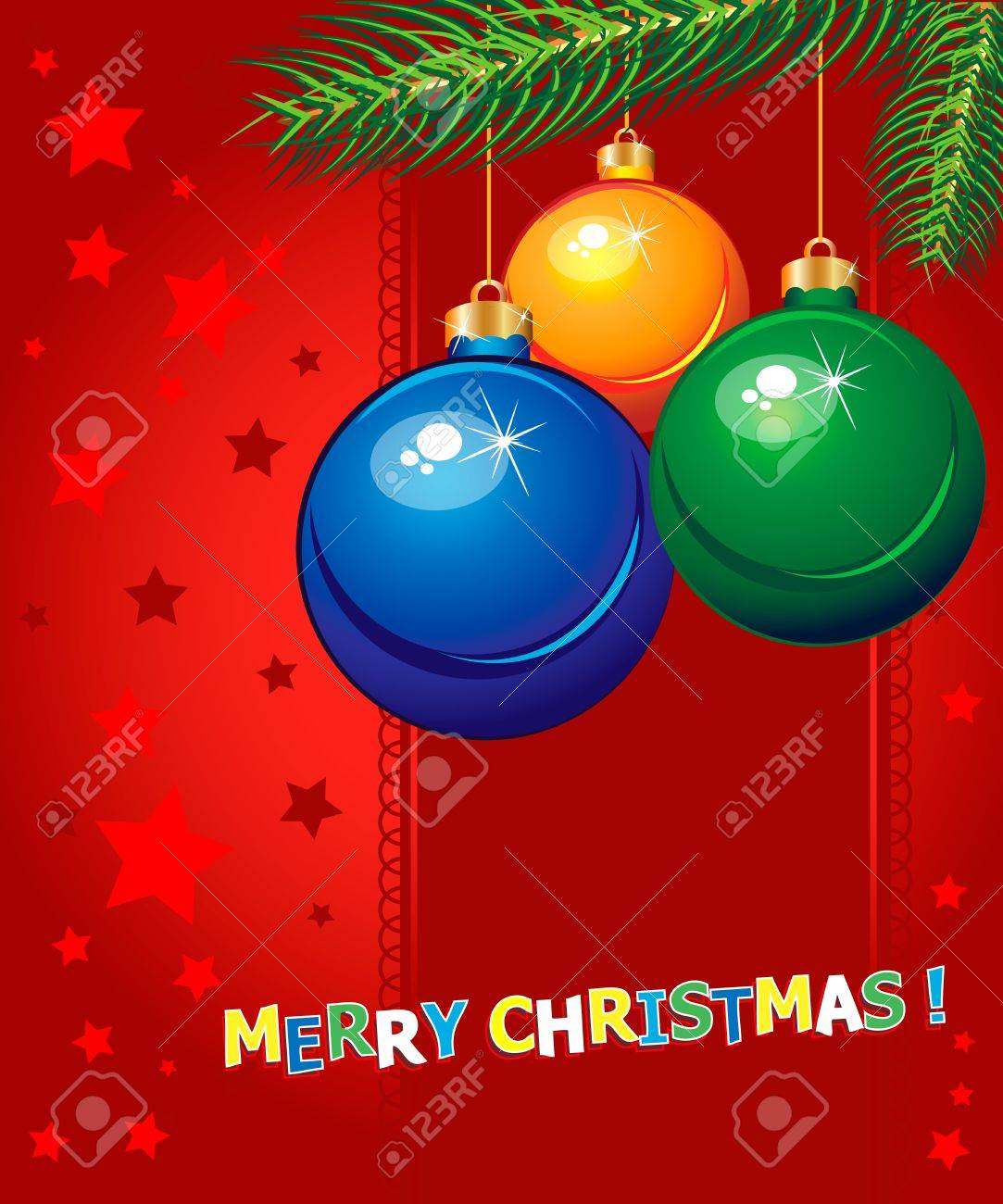 Merry Christmas elegant suggestive background for greetings card Stock Vector - 16385725