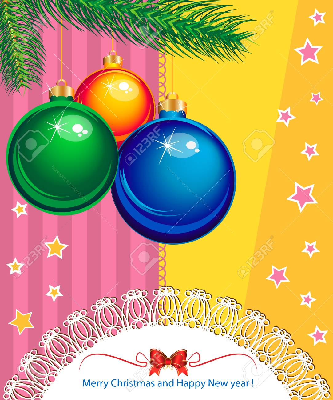 New Year and Christmas elegant suggestive background for greetings card Stock Vector - 16633658