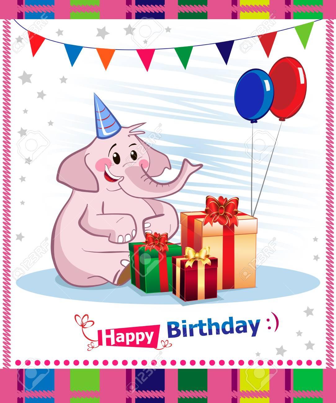 Happy birthday card design Stock Vector - 16882399