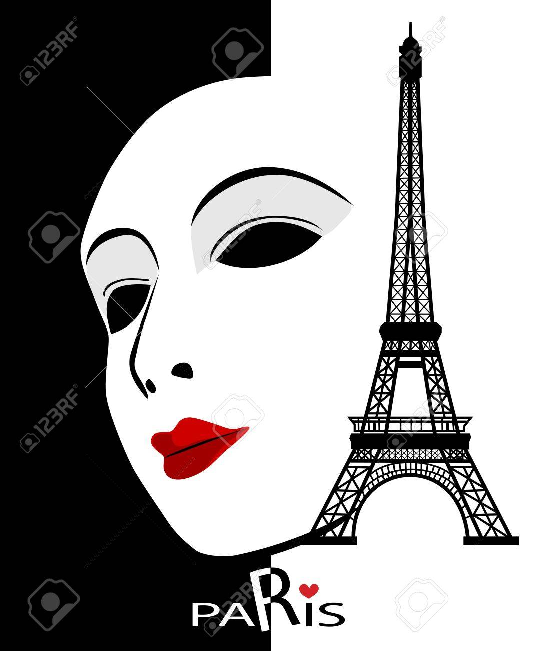 Paris cards as symbol love and romance travel Stock Vector - 18030971