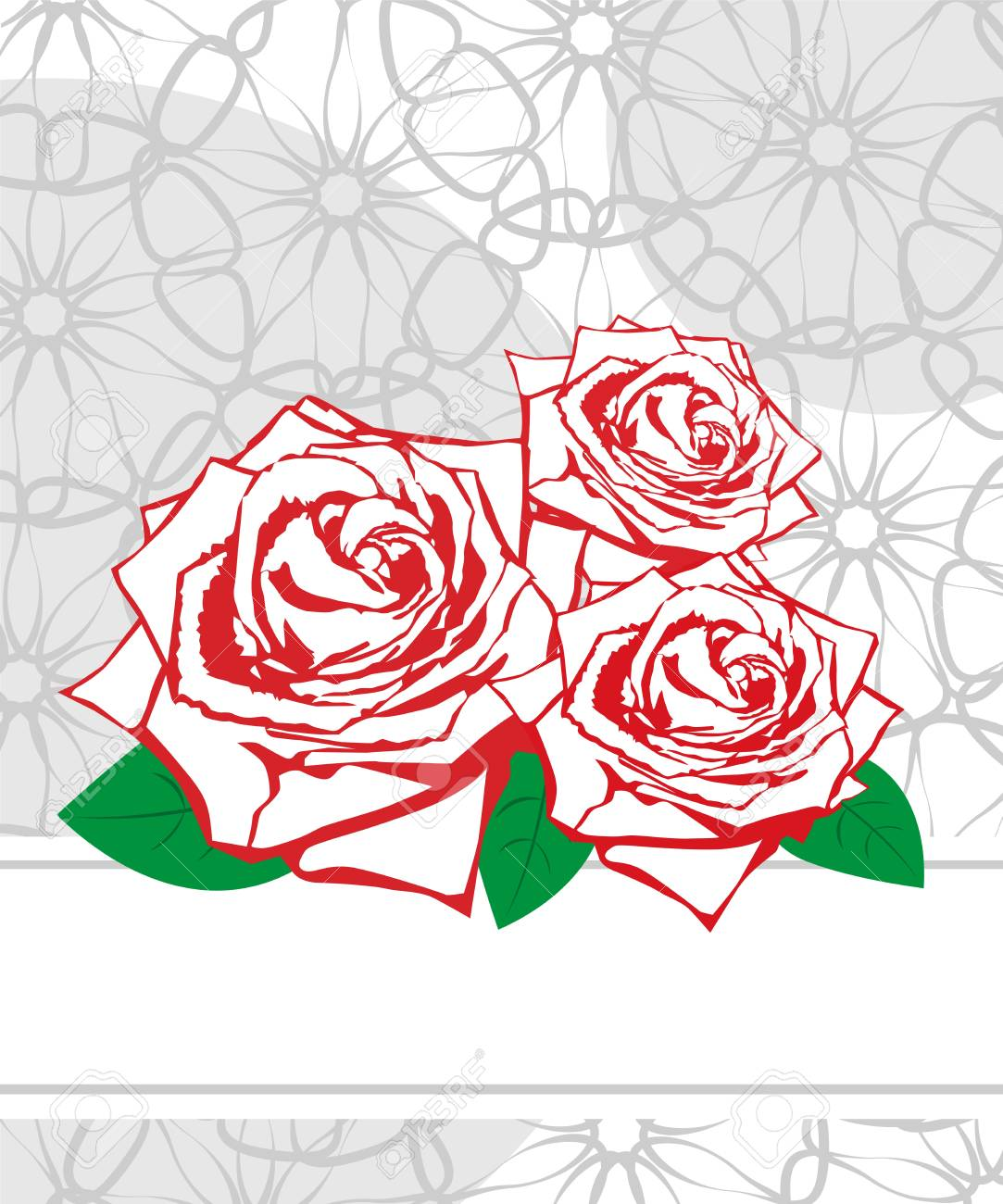 Wedding card. Greeting card with roses Stock Vector - 18850968