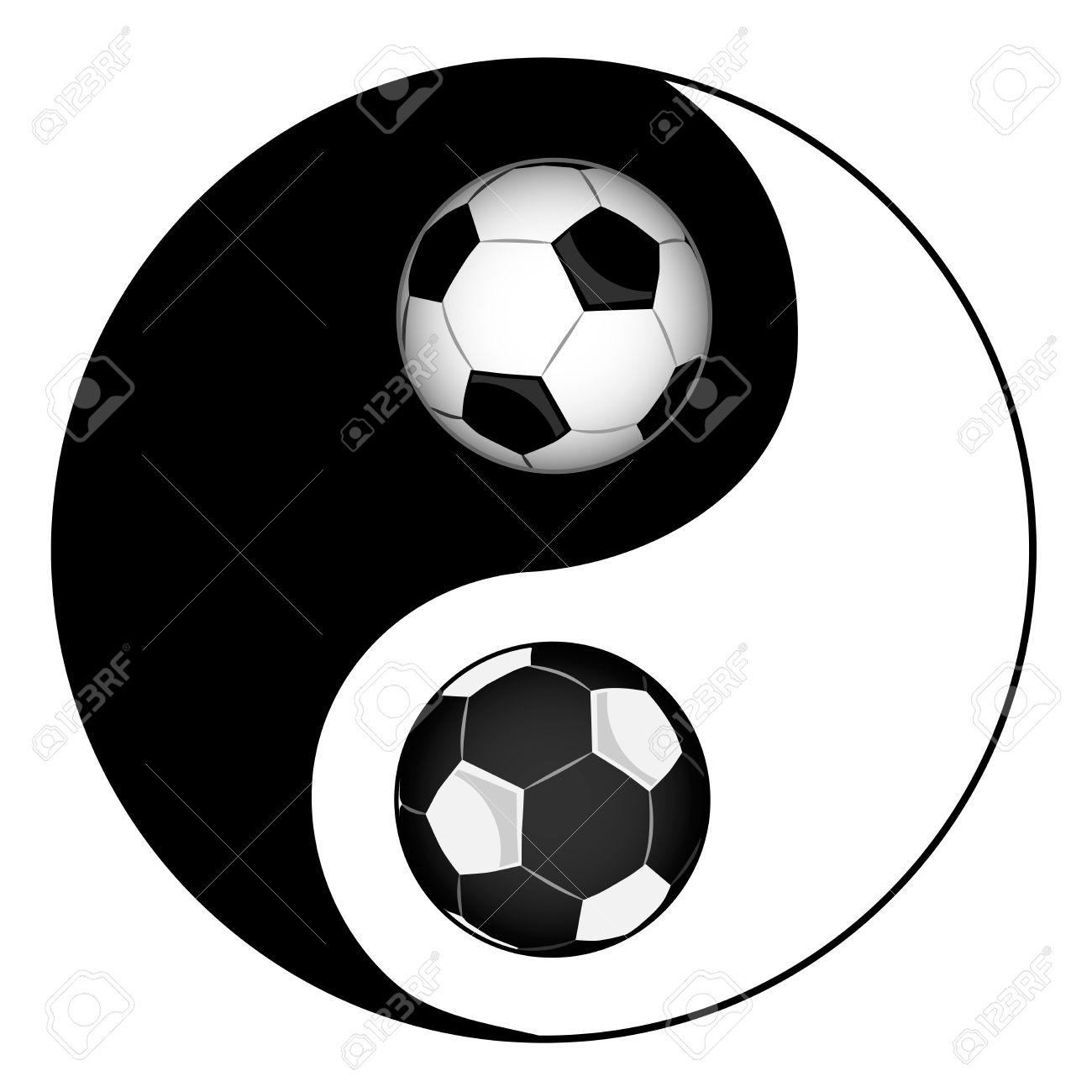 Football philosophy football yin yan symbol of harmony and football philosophy football yin yan symbol of harmony and balance stock vector 18902633 buycottarizona