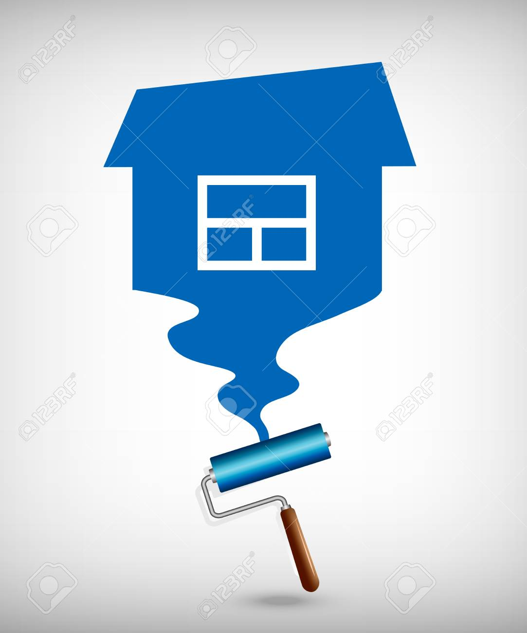 painting the house paint rollers royalty free cliparts, vectors