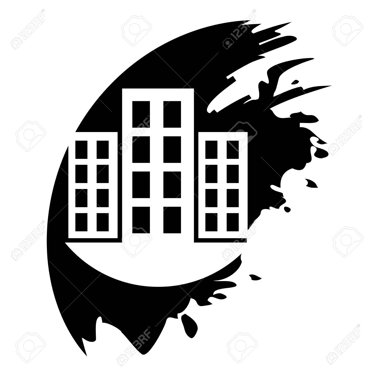 City vector icon Stock Vector - 21687200