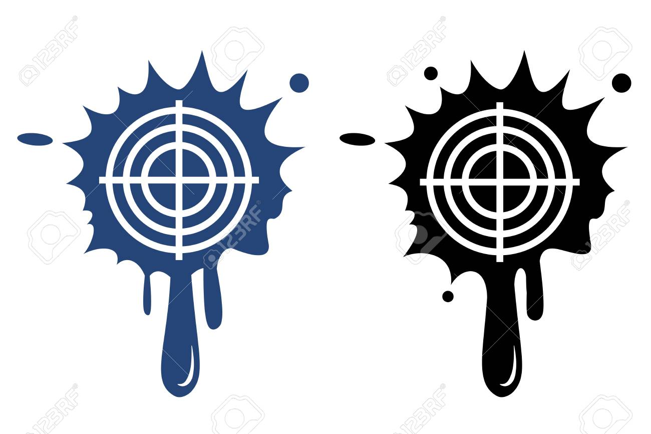 Target blue and black icon Stock Vector - 22381267