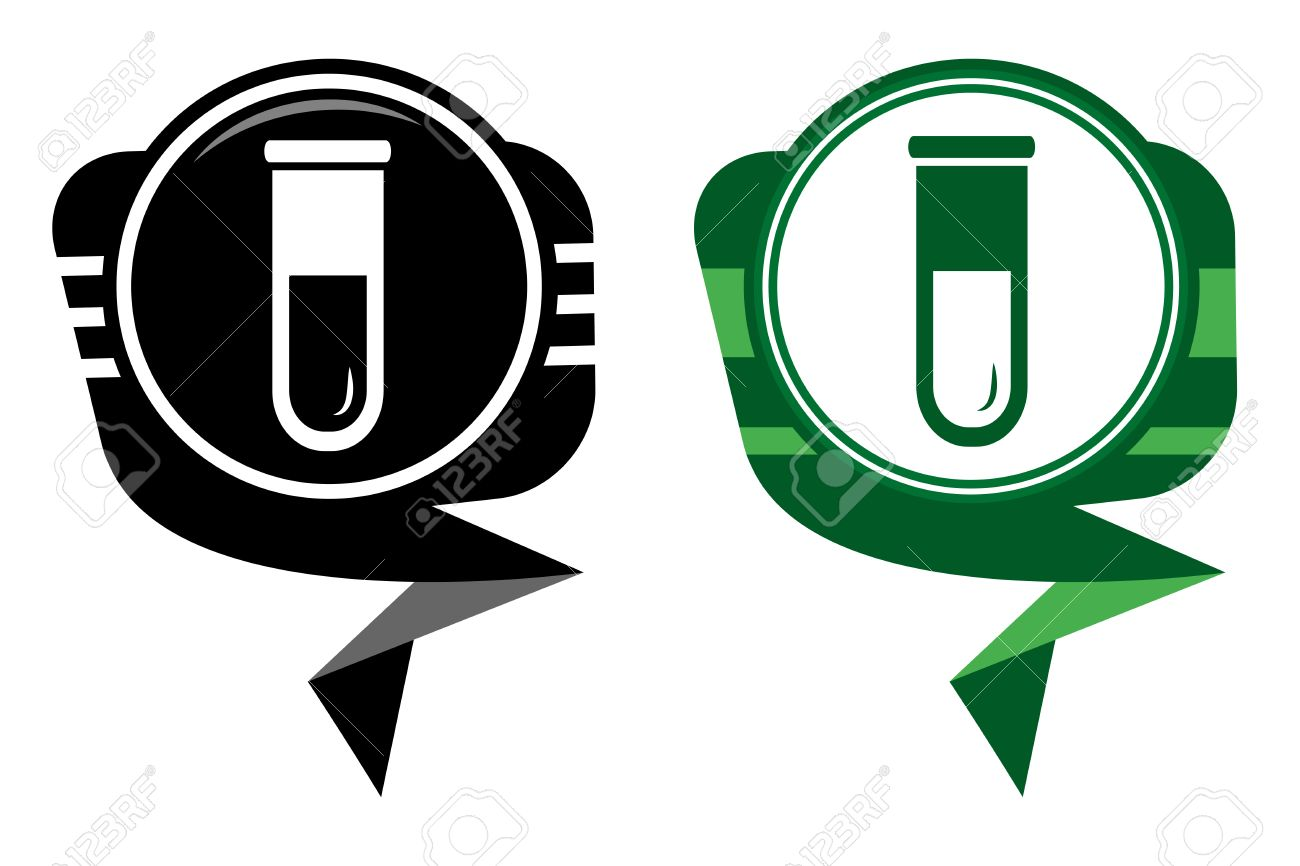 Test tube black and green pointer. Biochemistry and microbiology equipment. Stock Vector - 22587837
