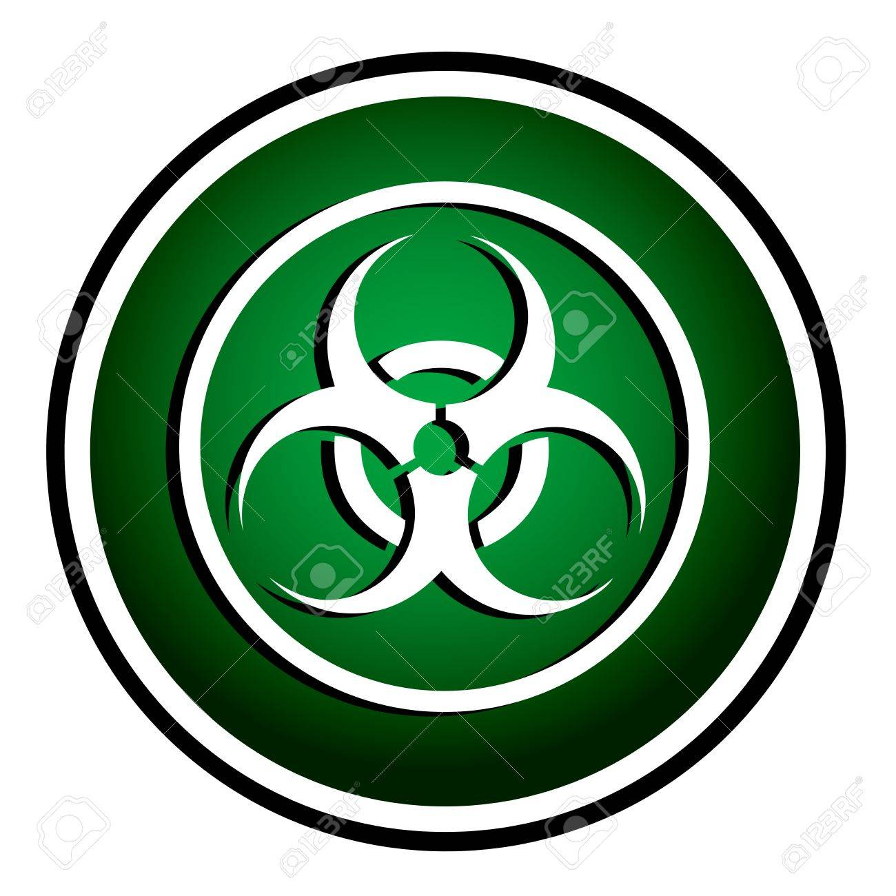 Warning symbol biohazard green round icon royalty free cliparts warning symbol biohazard green round icon stock vector 23161249 biocorpaavc Image collections