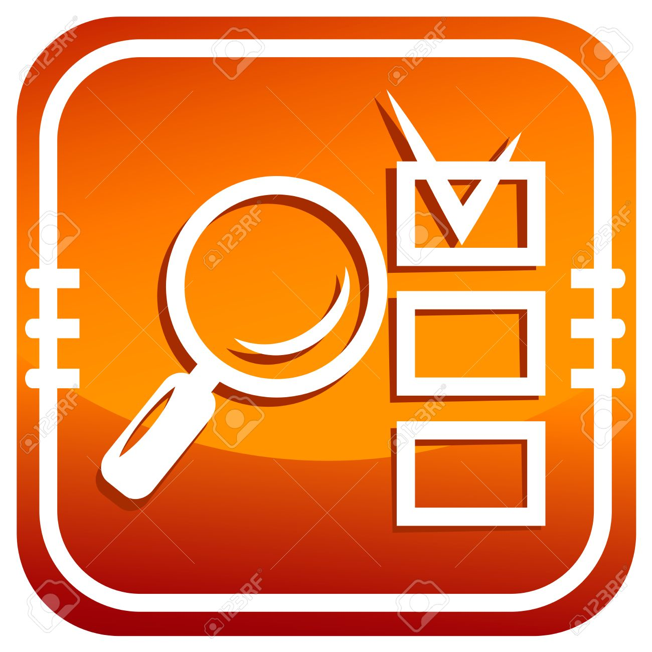 Magnifying glass and checklist Stock Vector - 25179744