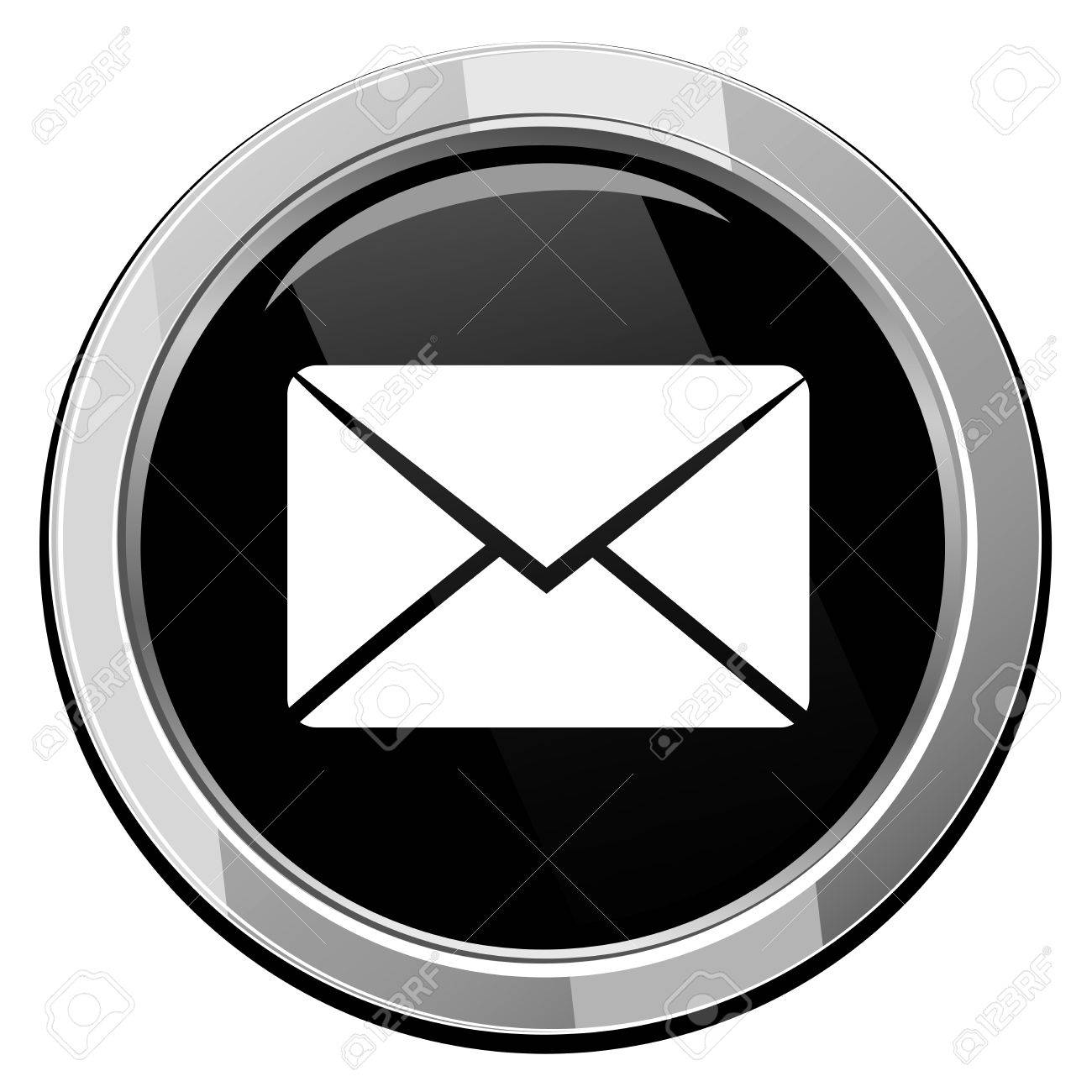 Send Email Symbol Vector Round Icon Royalty Free Cliparts Vectors