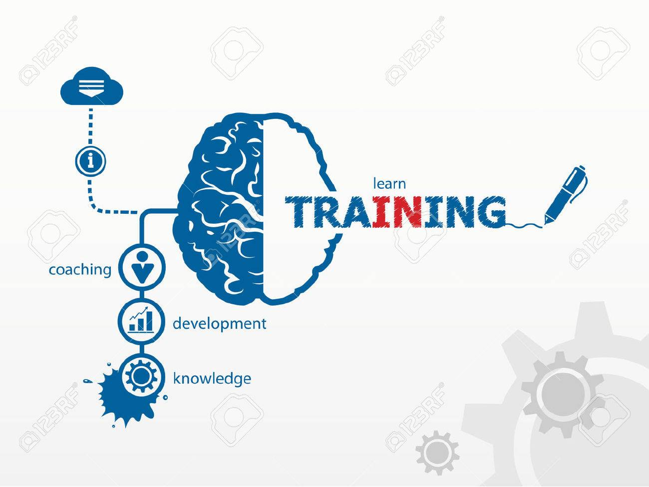 vector training business vector concept for presentations and