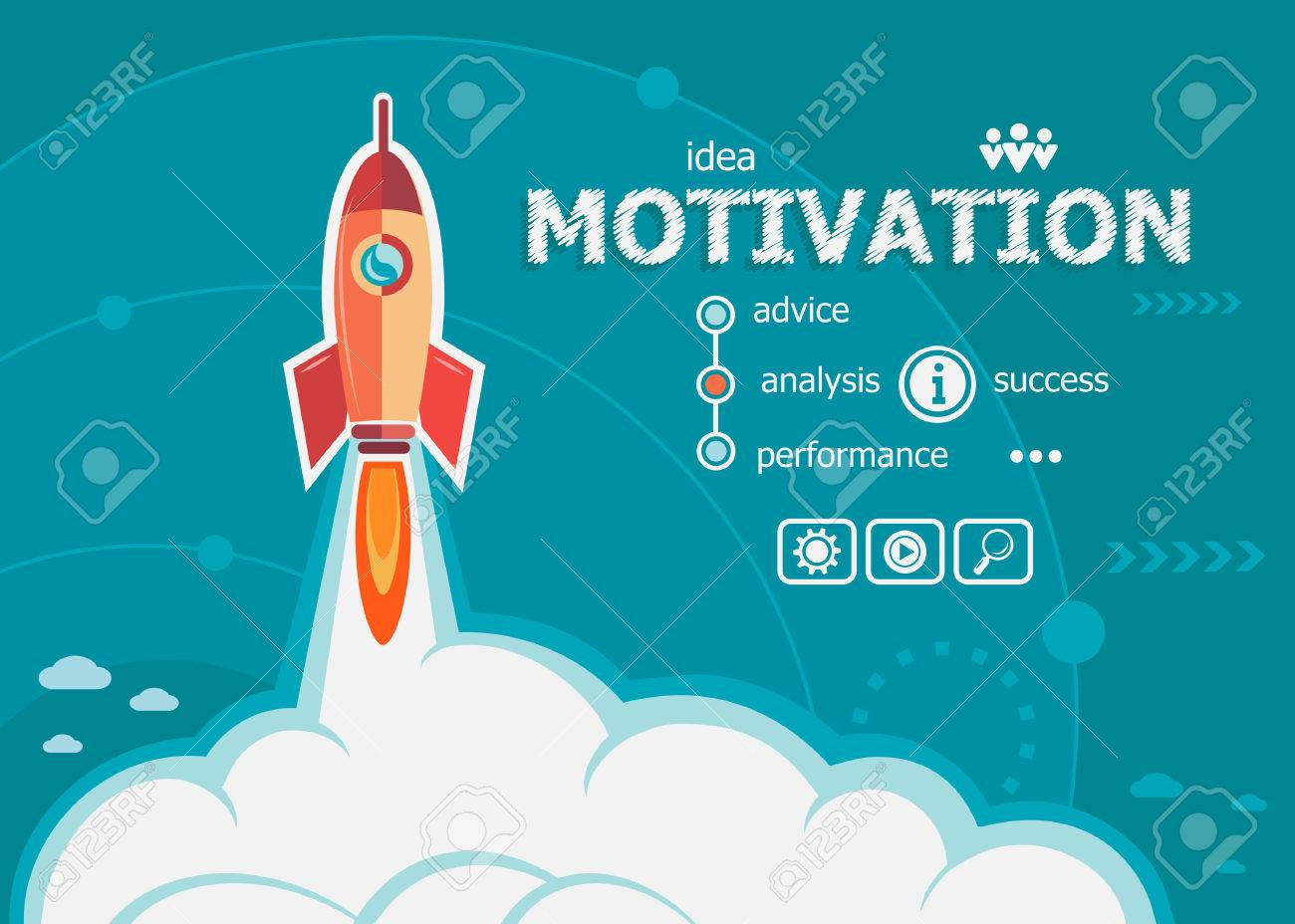 Motivation Design And Concept Background With Rocket Project