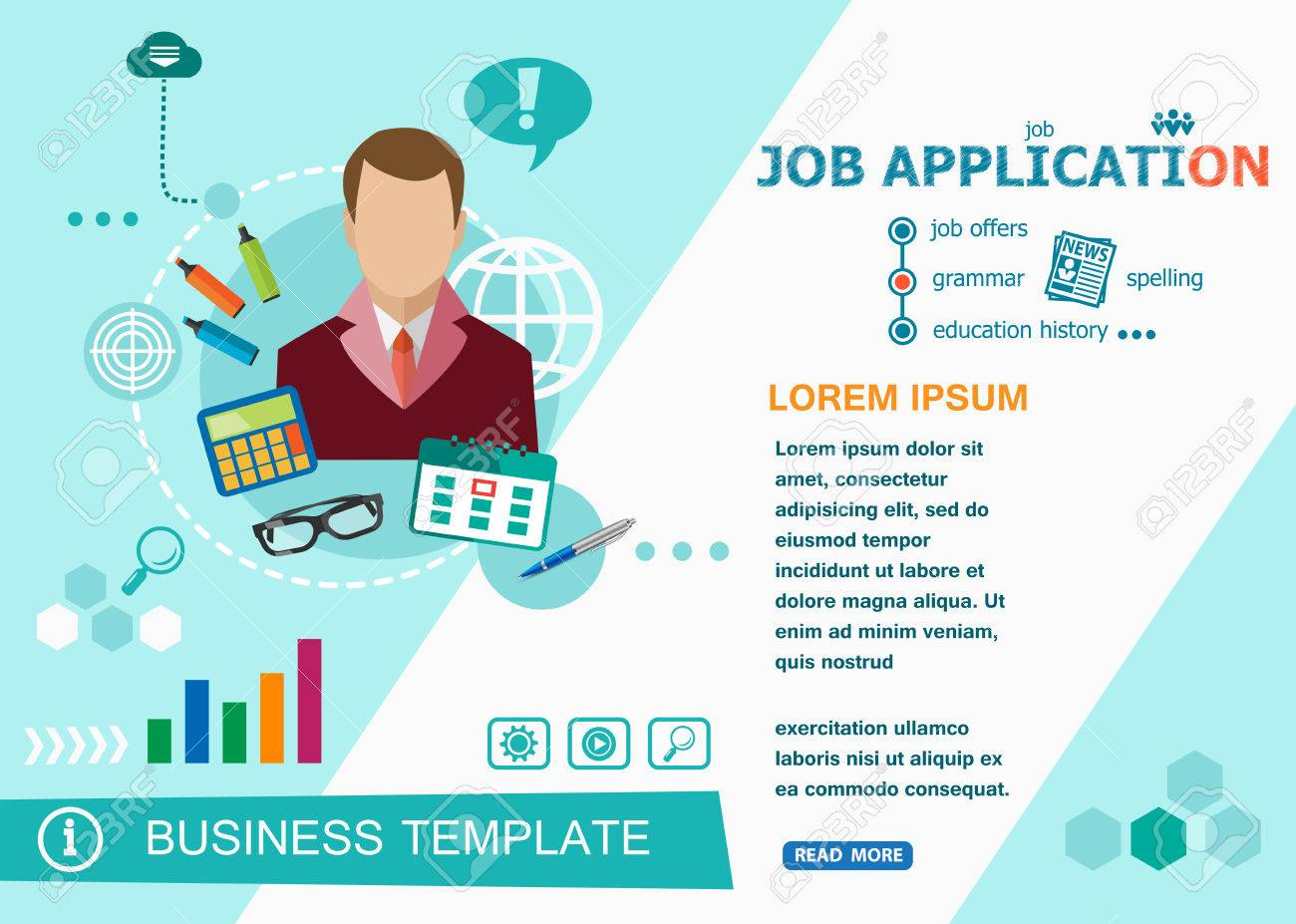 job application design concepts of words learning and training job application design concepts of words learning and training job application flat design banners for