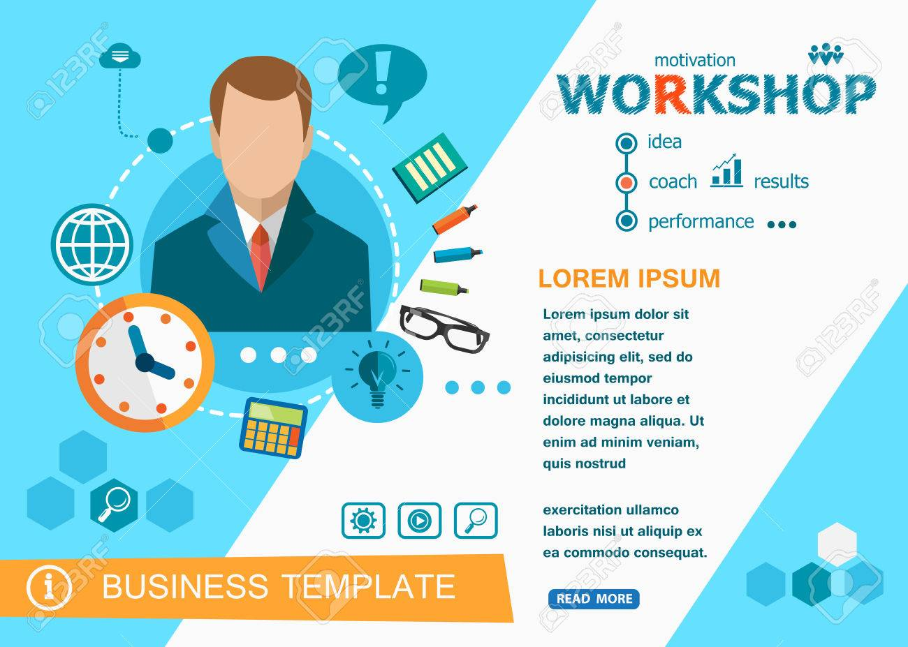Workshop Design Concepts Of Words Learning And Training Workshop Royalty Free Cliparts Vectors And Stock Illustration Image 63731884