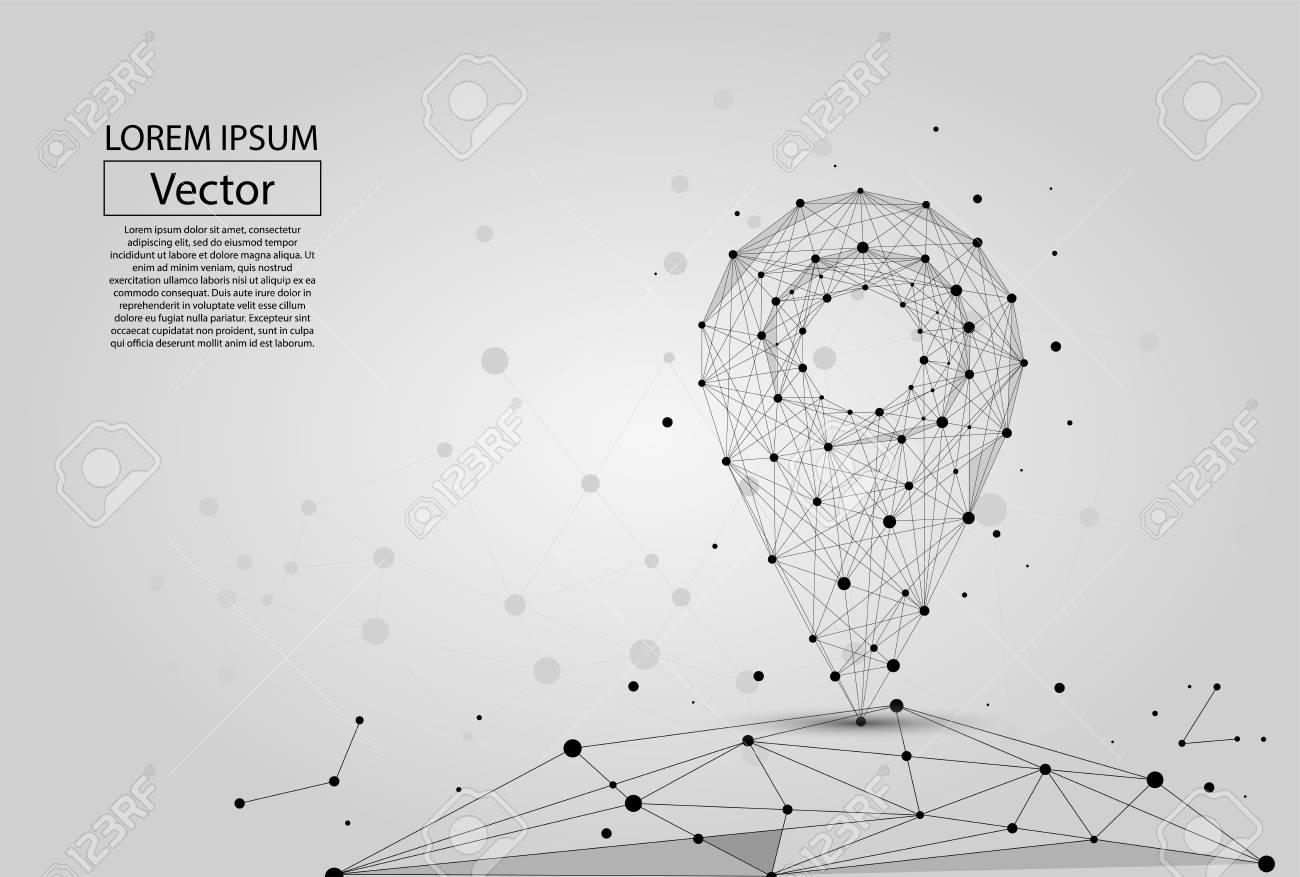 折れ線を抽象化し白い背景上のポイントしますベクトル ビジネス