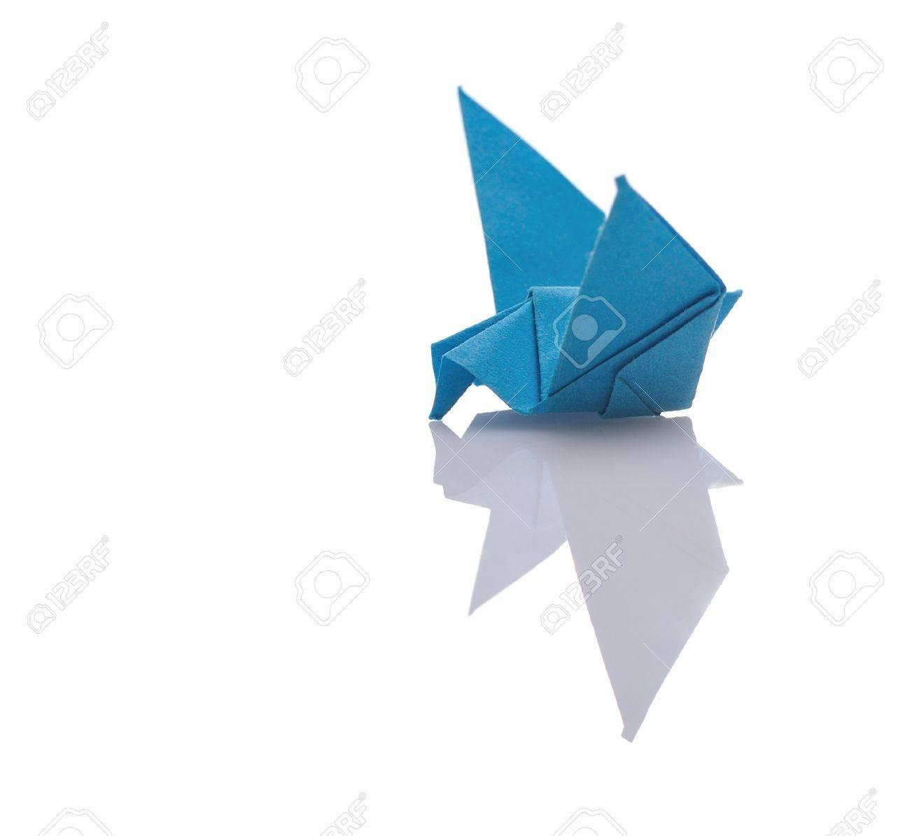 Colorful Tiny Stuff Of Origami On White Background Stock Photo