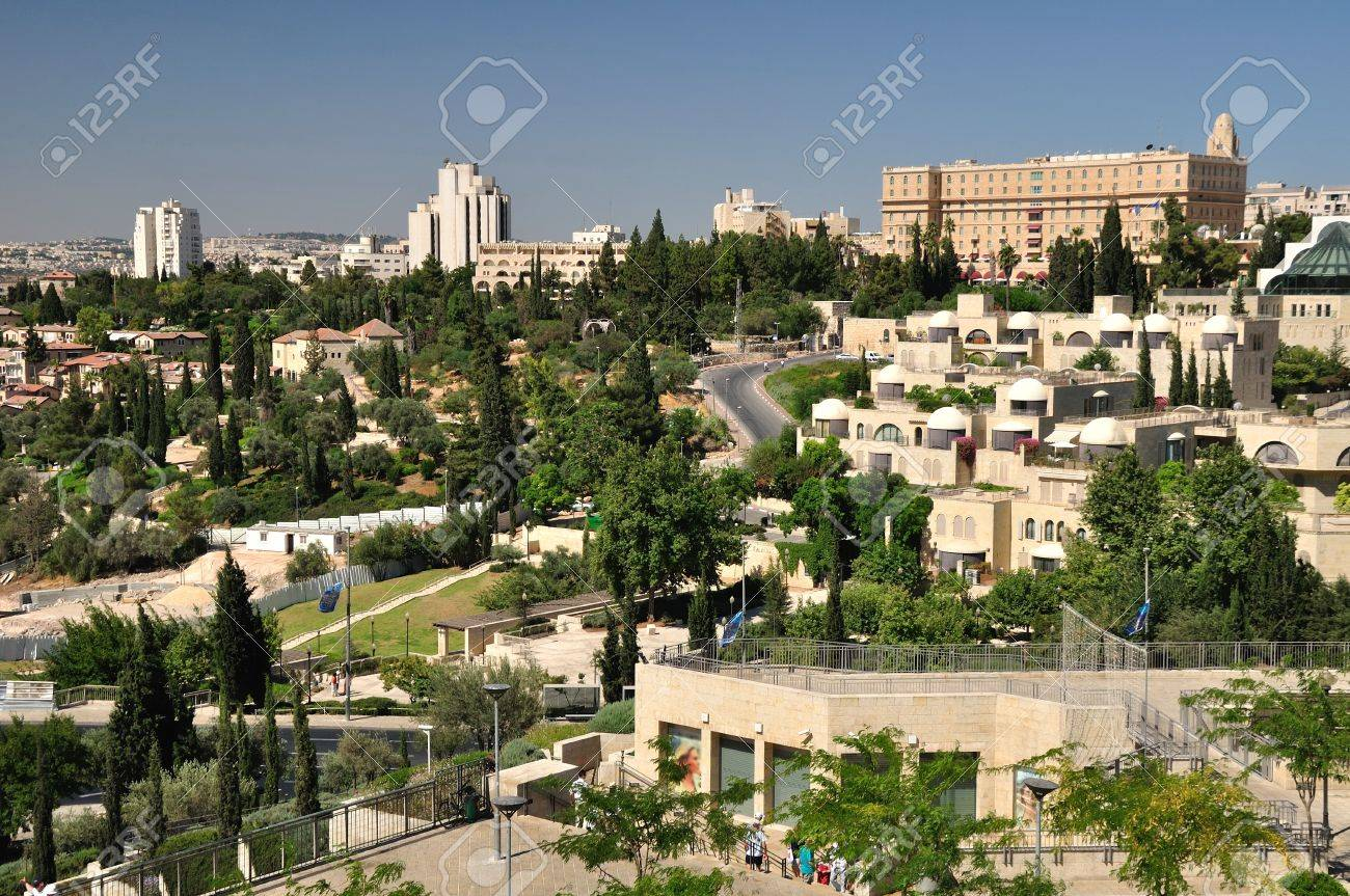 View of Jerusalem landscape from Old city wall Stock Photo - 14954355