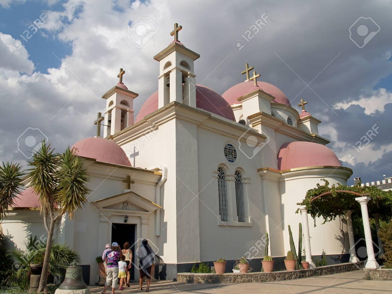 イスラエル Kfar Nakhum で十二使徒の大聖堂のギリシャ教会 の写真素材 ...