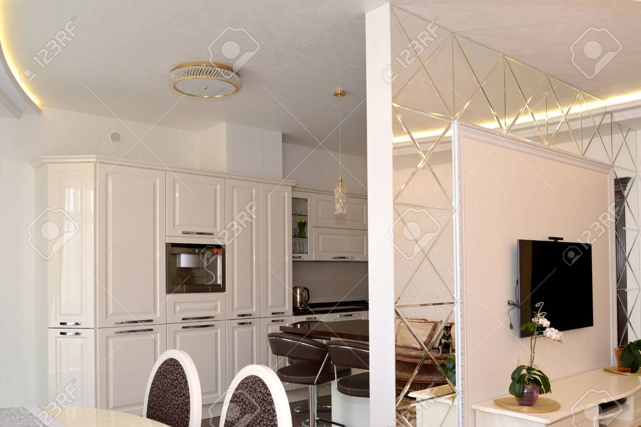 Kitchen Partition Wall Designs The Interroom Wall Partition Issued By Mirrors Between A Drawing
