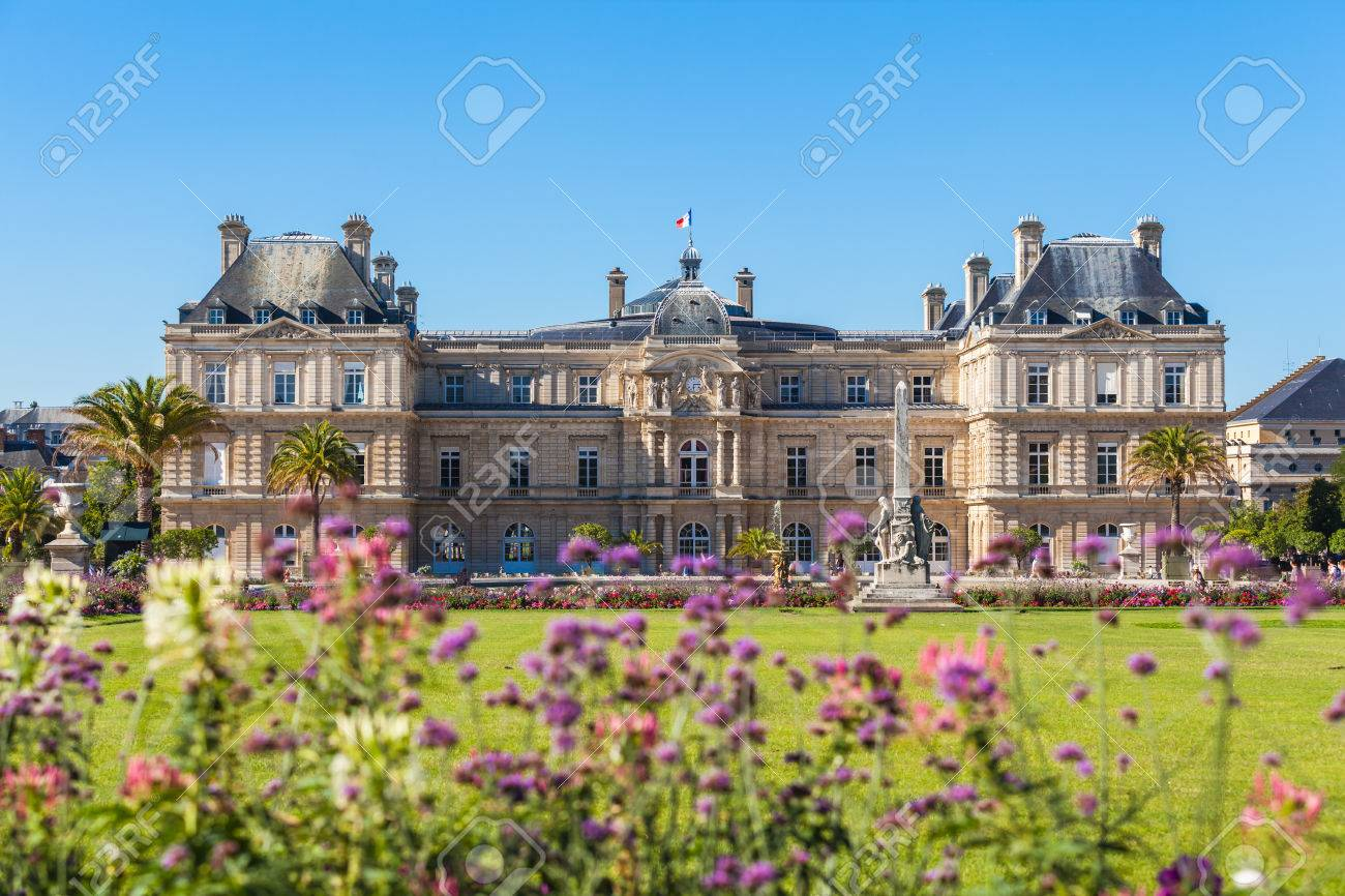 Luxembourg Palace In Jardin Du Luxembourg Paris France Stock Photo