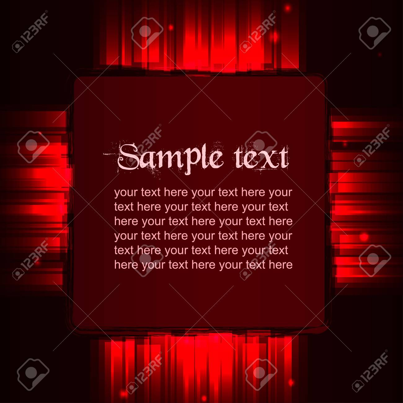 Red vector shiny template Stock Vector - 19234289