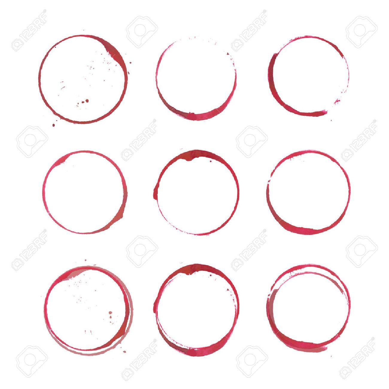 Wine stain circles - 39543841