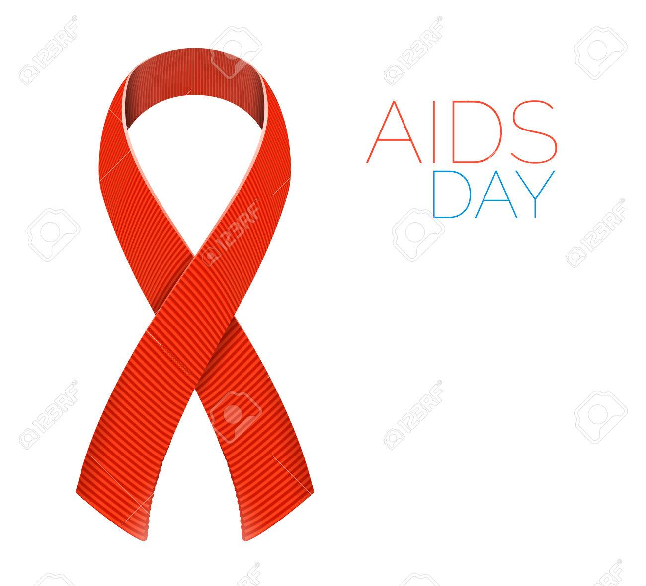 Realistic aids awareness red satin ribbon isolated on white realistic aids awareness red satin ribbon isolated on white background illustration of symbol for solidarity buycottarizona Image collections