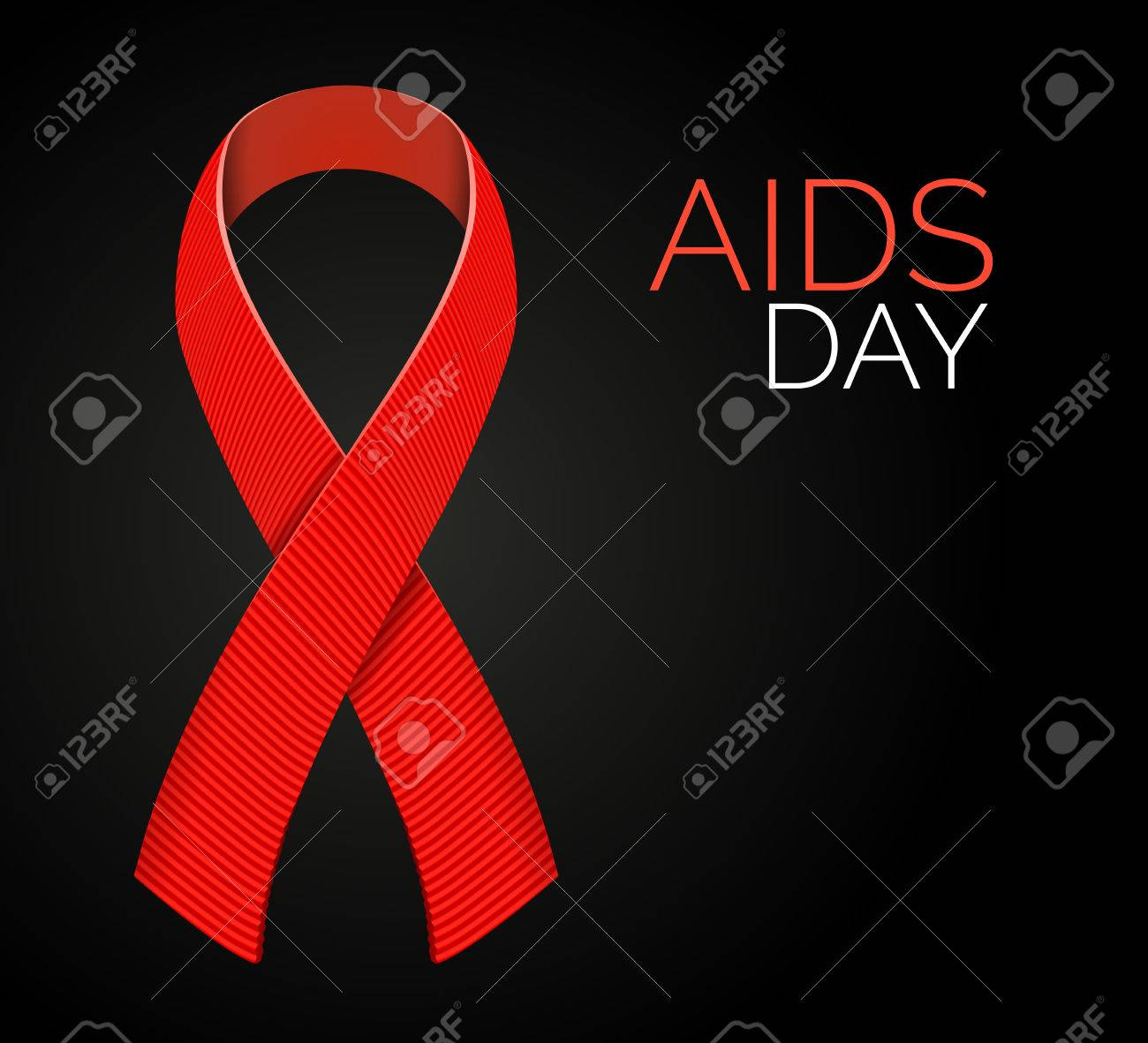 Realistic aids awareness red satin ribbon isolated on black realistic aids awareness red satin ribbon isolated on black background illustration of symbol for solidarity buycottarizona Image collections