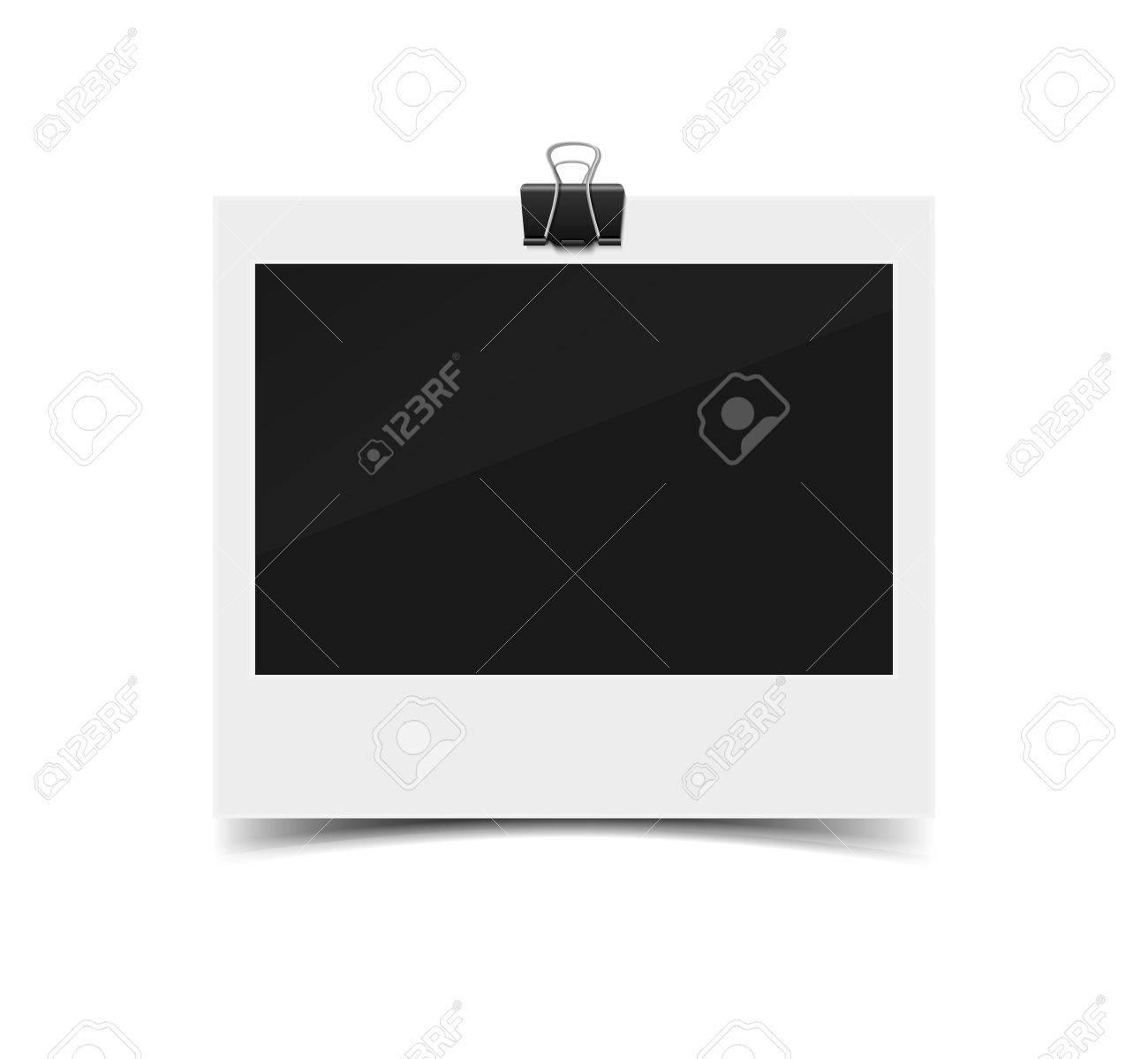 Blank Jahrgang Papier-Fotorahmen Von Instant-Kamera Mit Schatten Mit ...