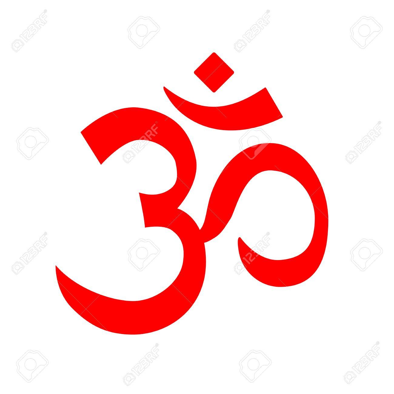 Red Vektor Om Symbol Aum Logo Symbol Von Hinduismus Und Buddhismus