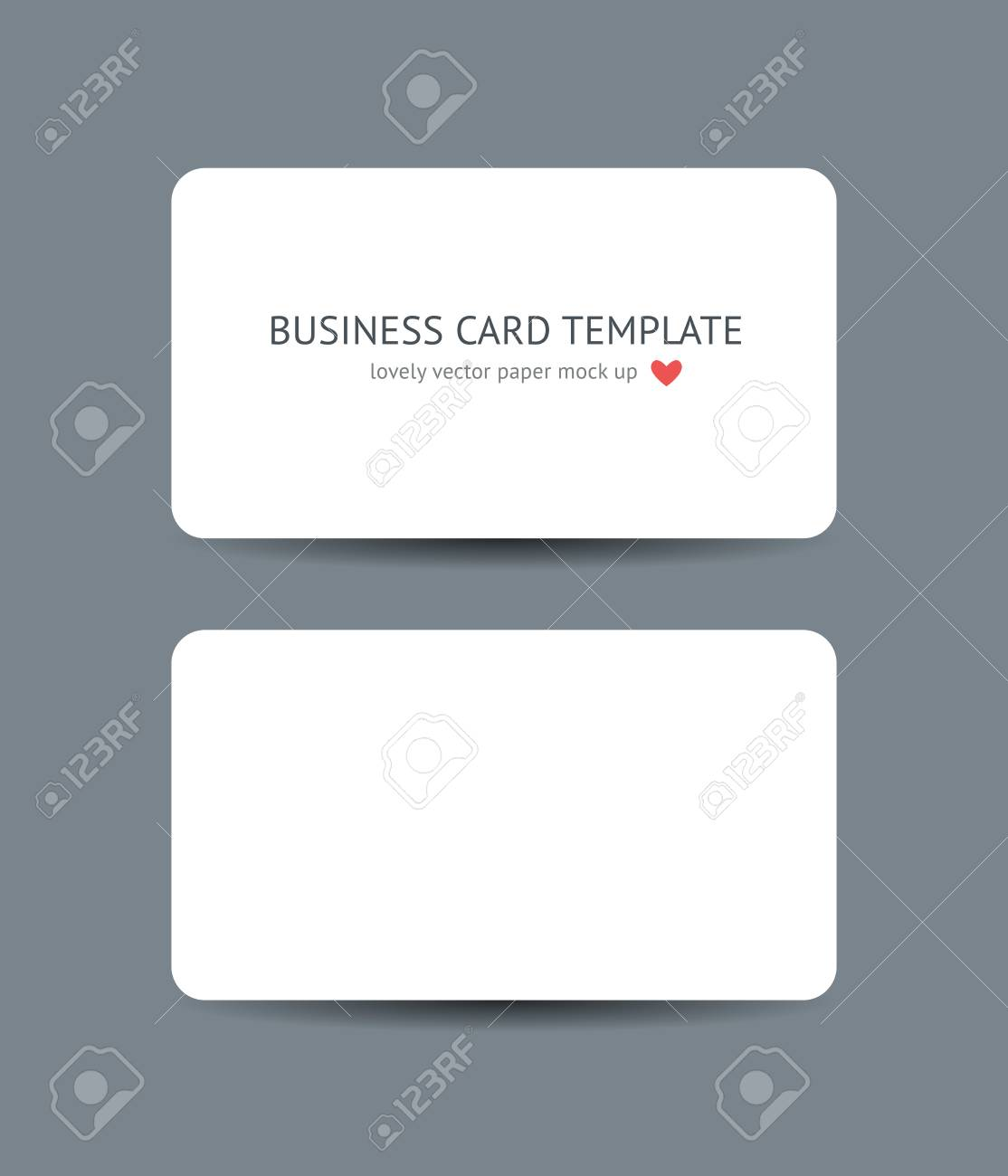 Two business cards with round corners template mockup isolated two business cards with round corners template mockup isolated on dark gray background realistic vector reheart Choice Image