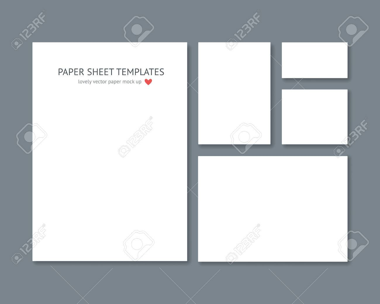 Blank Vector Stationery For Corporate ID Set Isolated On Dark ...