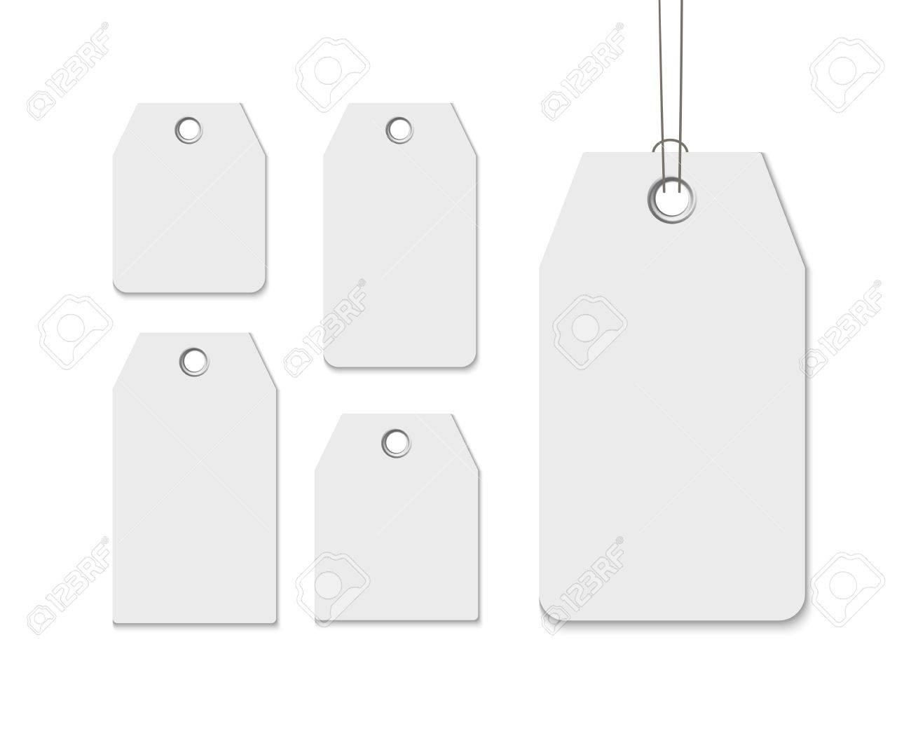 Blank Labels Template Price Tags Set Realistic Vector Isolated