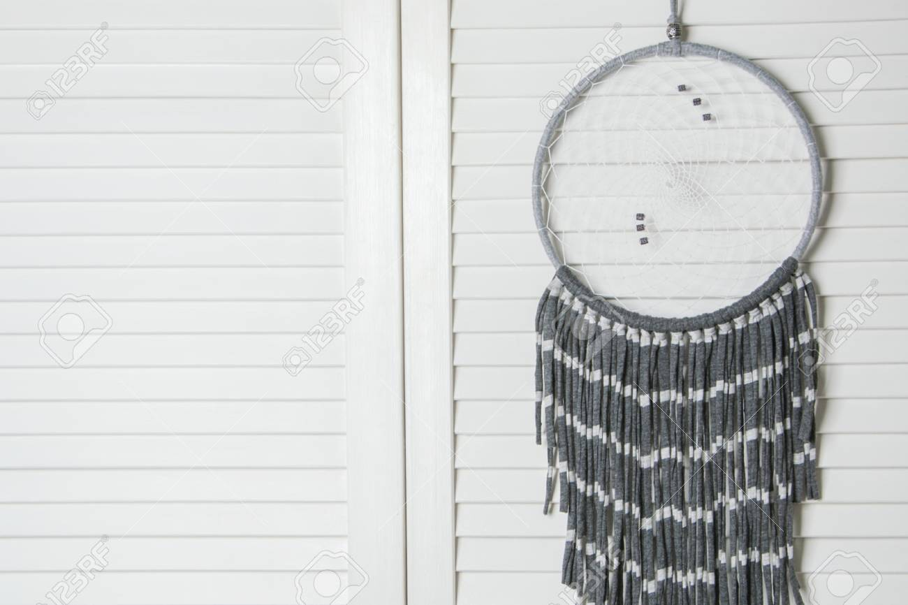 Gray White Dream Catcher In Bedroom Interior Bedroom Decor Stock Photo Picture And Royalty Free Image Image 75630049