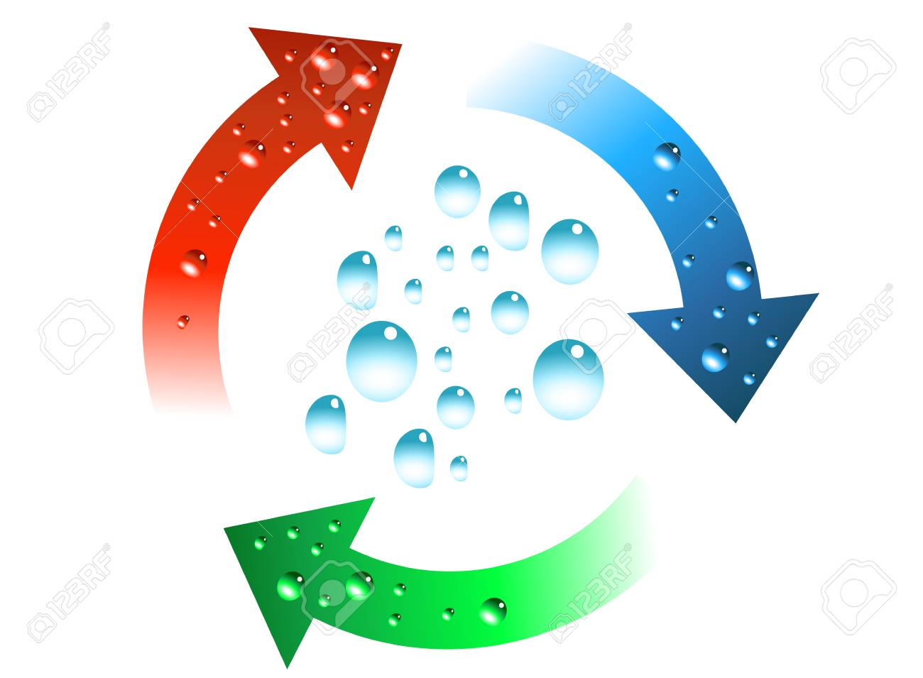 Fresh green and blue icon vector illustration Stock Vector - 3748384