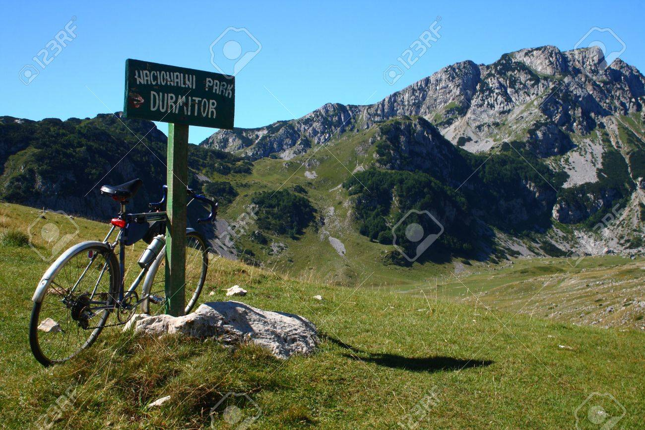 old bike in the mountains Stock Photo - 11806160