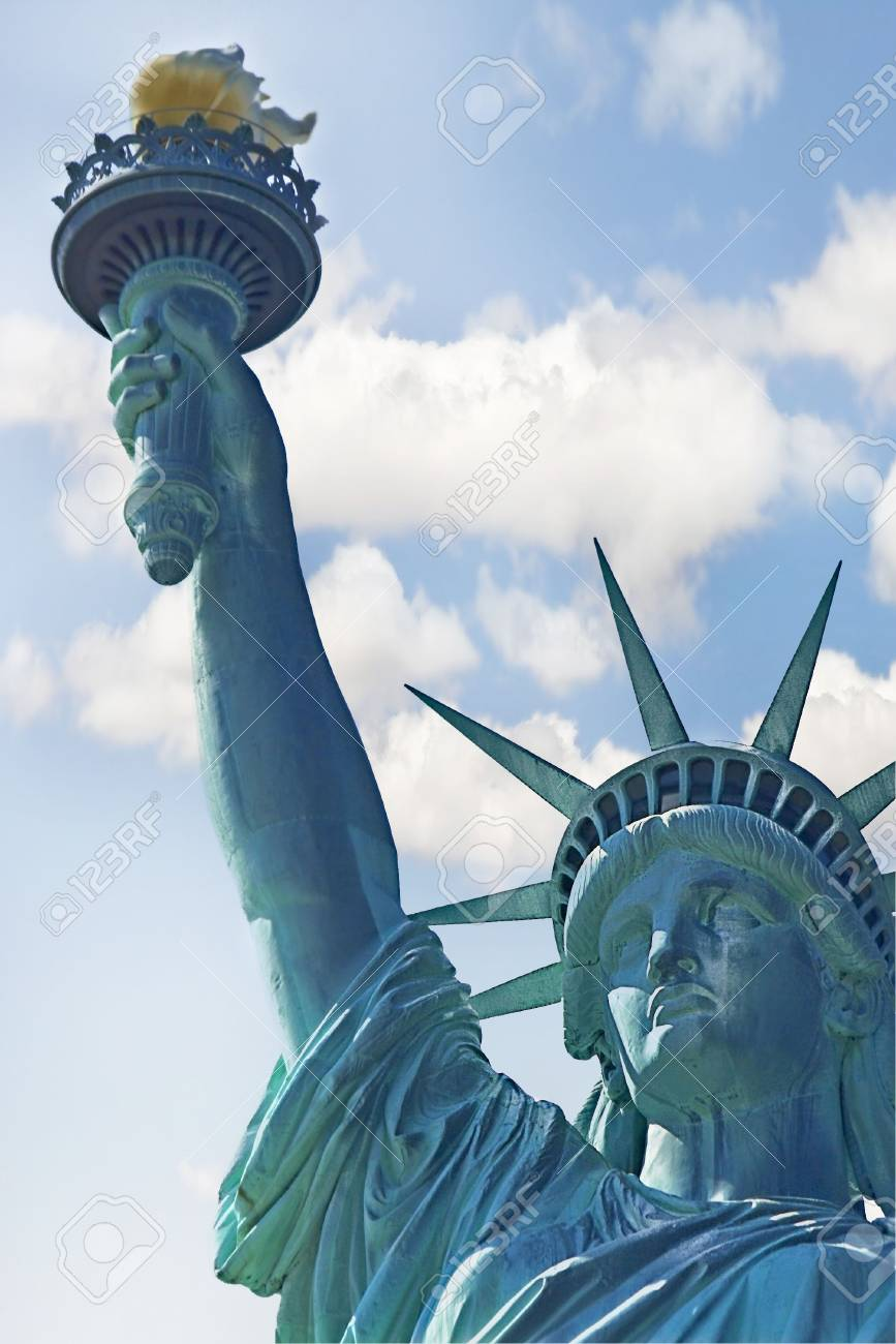 Statue of liberty over sky background Stock Photo - 4169825