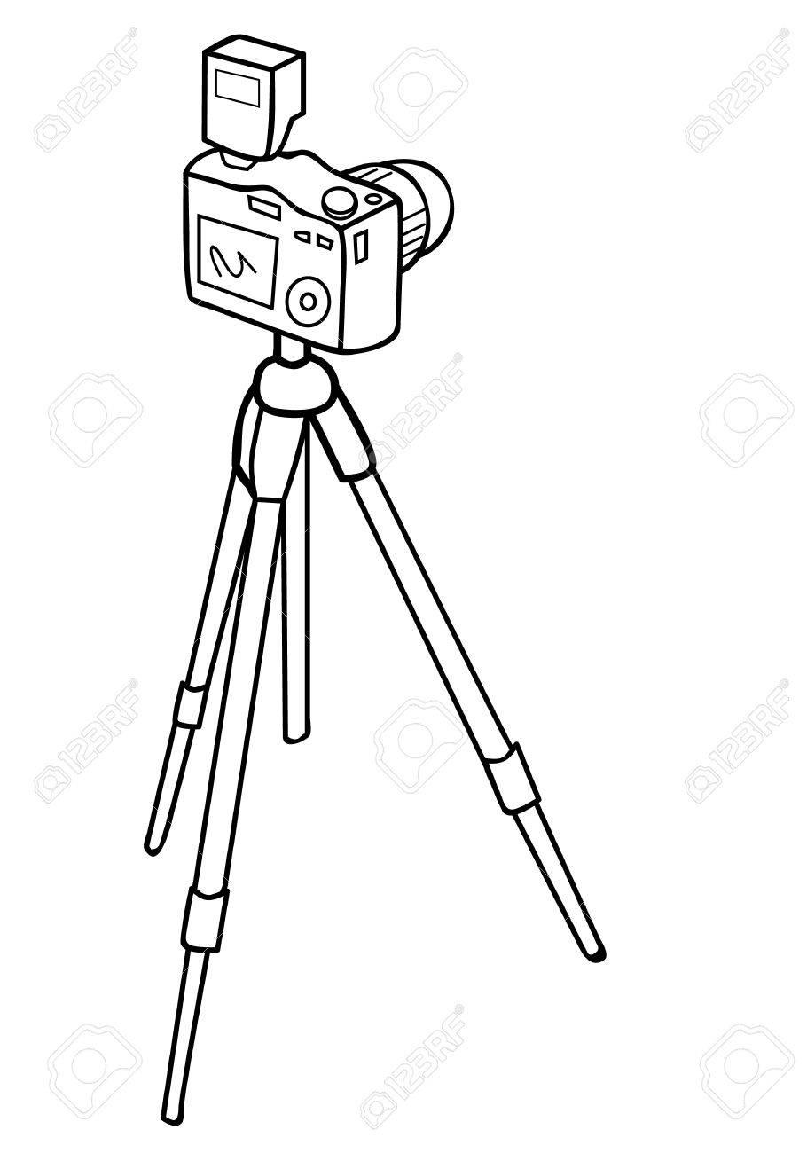 カメラと三脚のベクトル イラストのイラスト素材ベクタ Image 20865375
