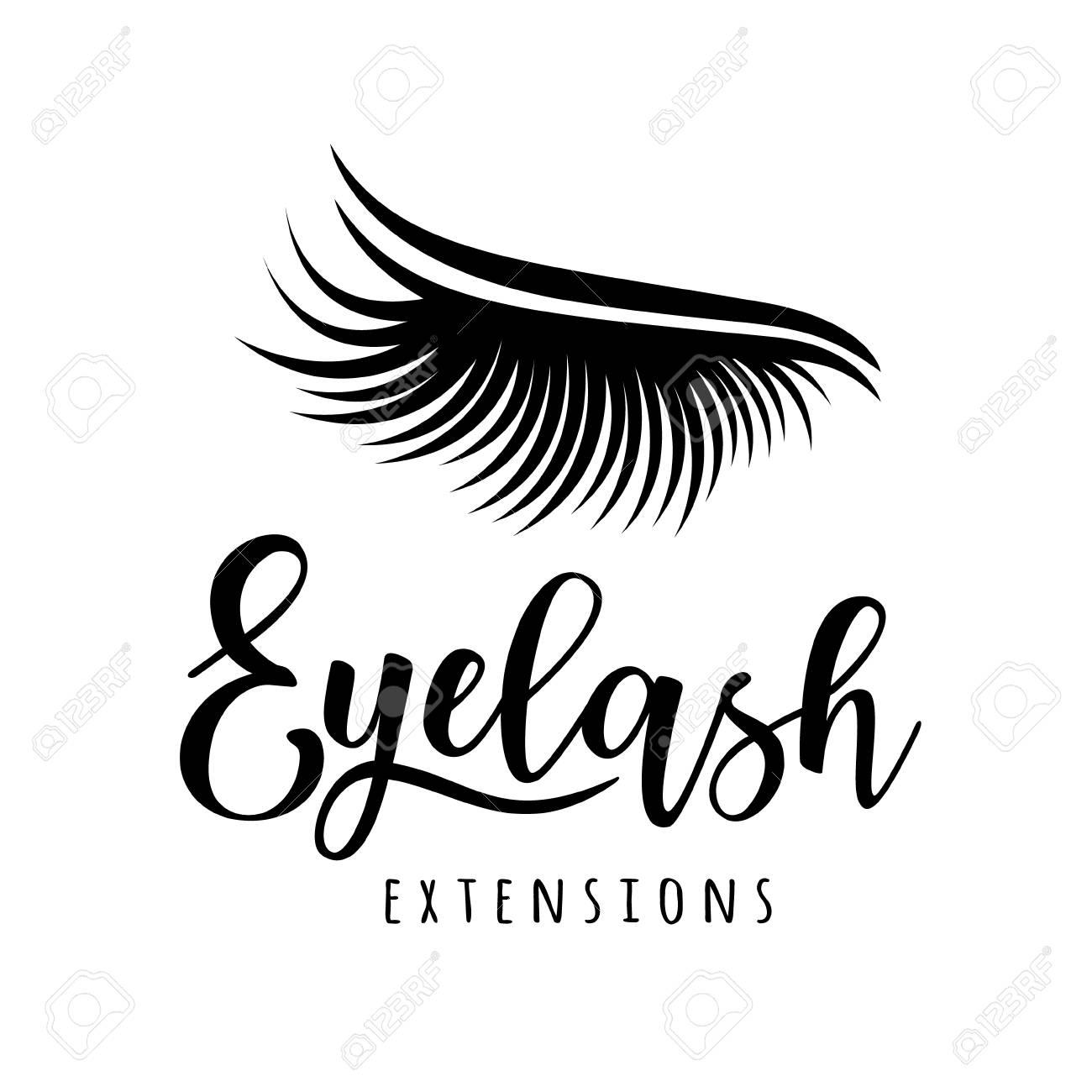 f8a056fec26 Eyelash extension logo. Vector illustration of lashes. For beauty salon, lash  extensions maker