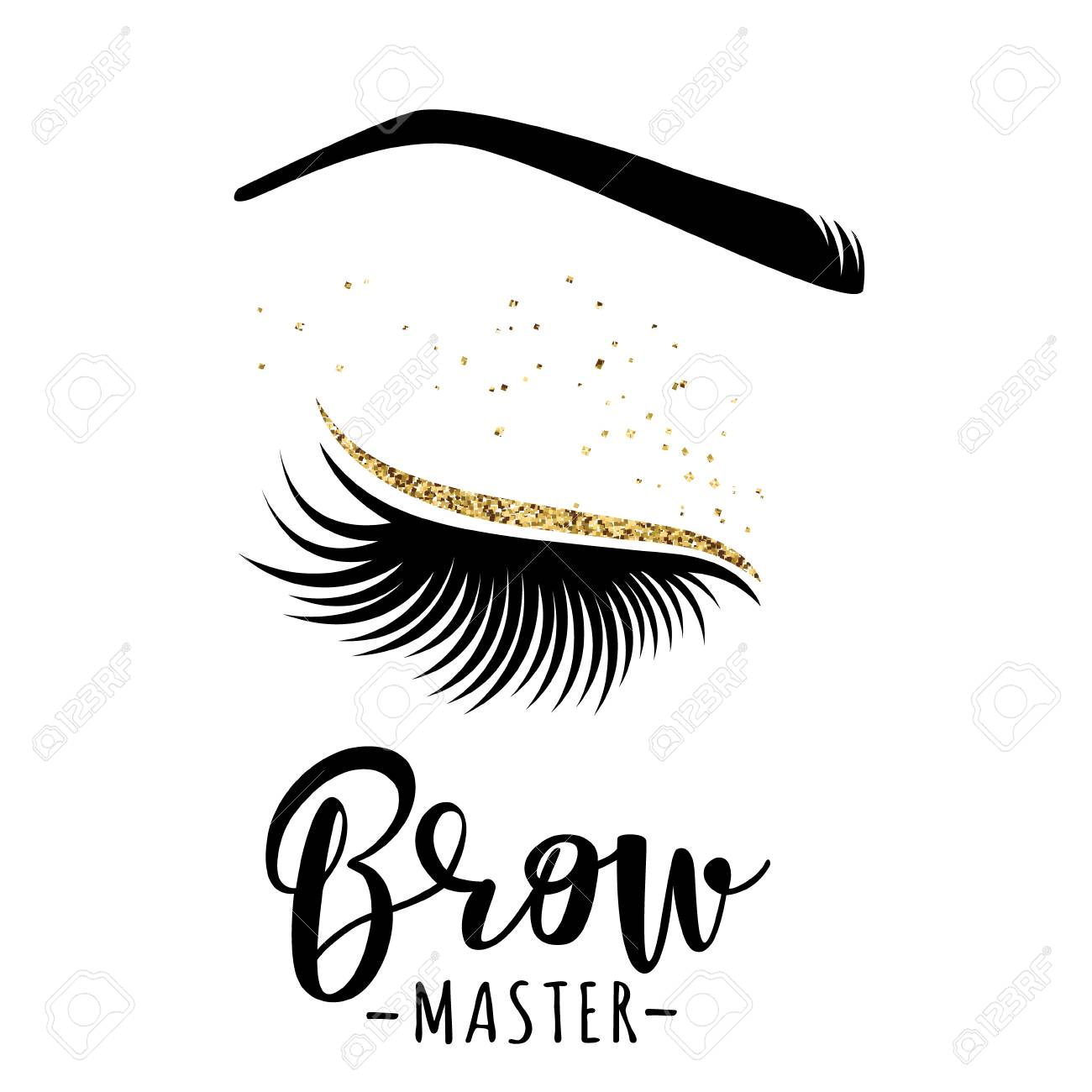 0065cee2c8a Brow master logo. Vector illustration of lashes and brow. For beauty salon,  lash