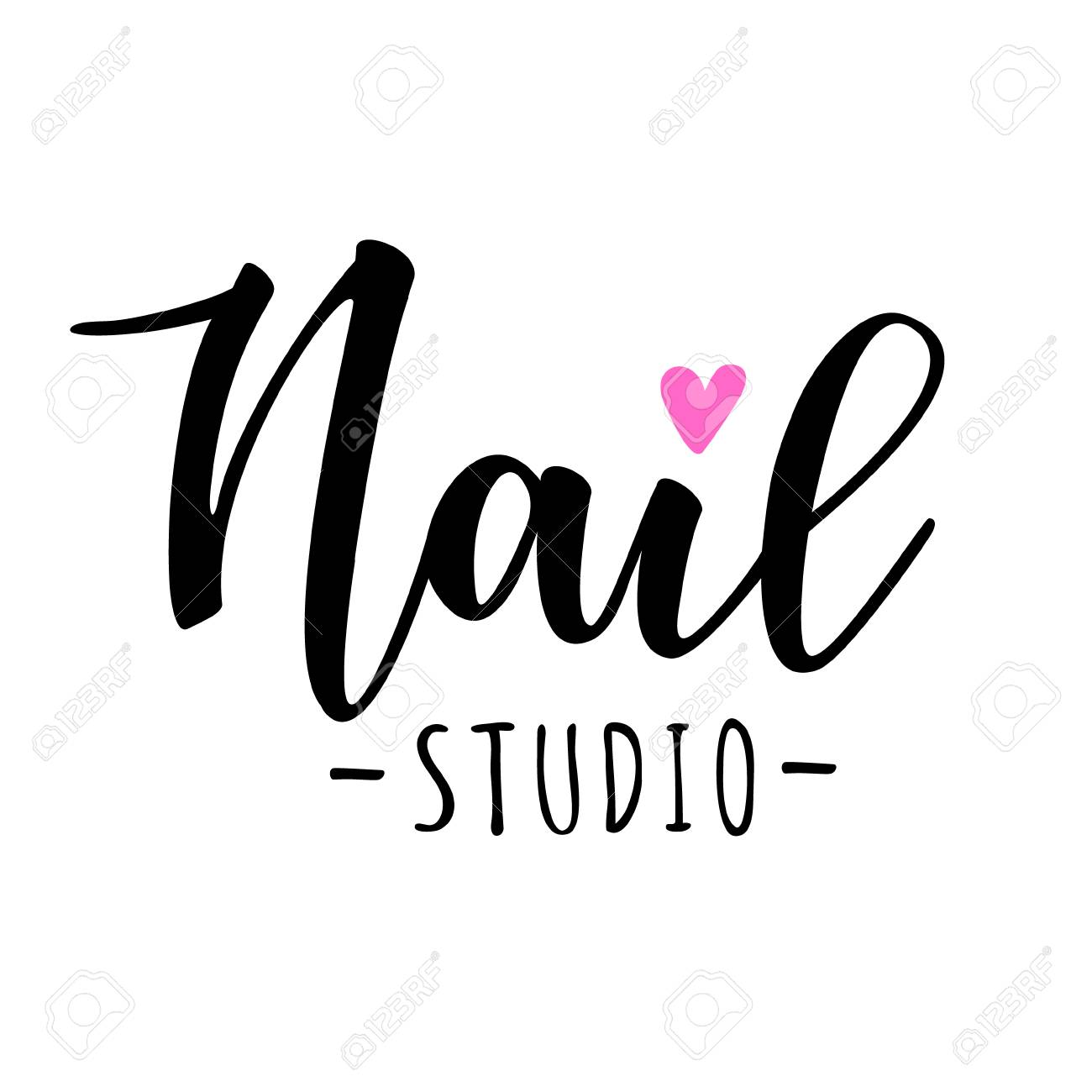 Nail Studio Lettering. Vector Illustration For Beauty Salon ...