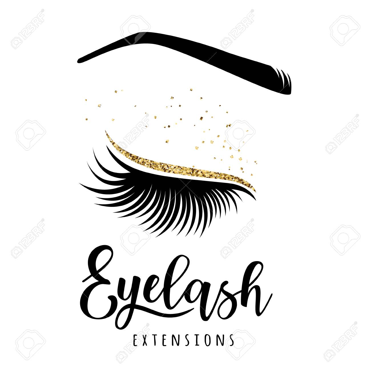 164bf93e5de Eyelash extensions logo. Vector illustration of lashes. For beauty salon,  lash extensions maker