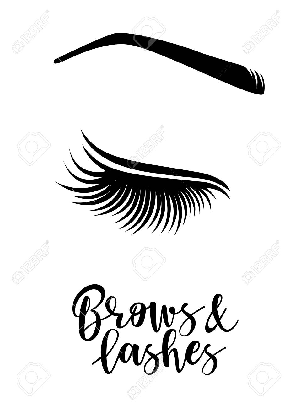 7070756ff98 Brows and lashes logo. Vector illustration of brows and lashes. For beauty  salon,