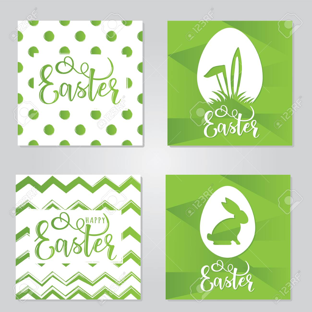 vector set for easter event greetings postcard card invitation