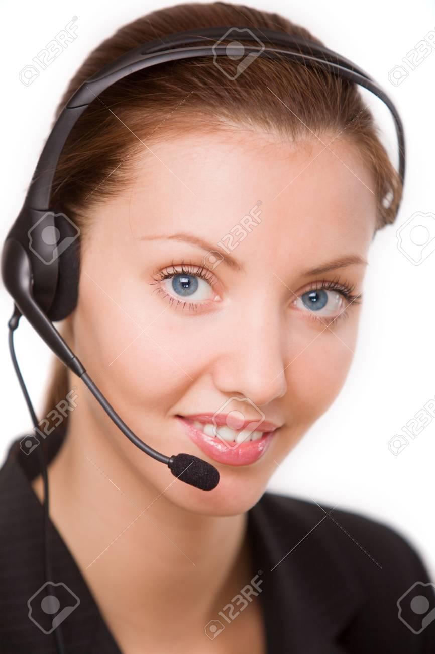 girl - telephone operator Stock Photo - 5322573