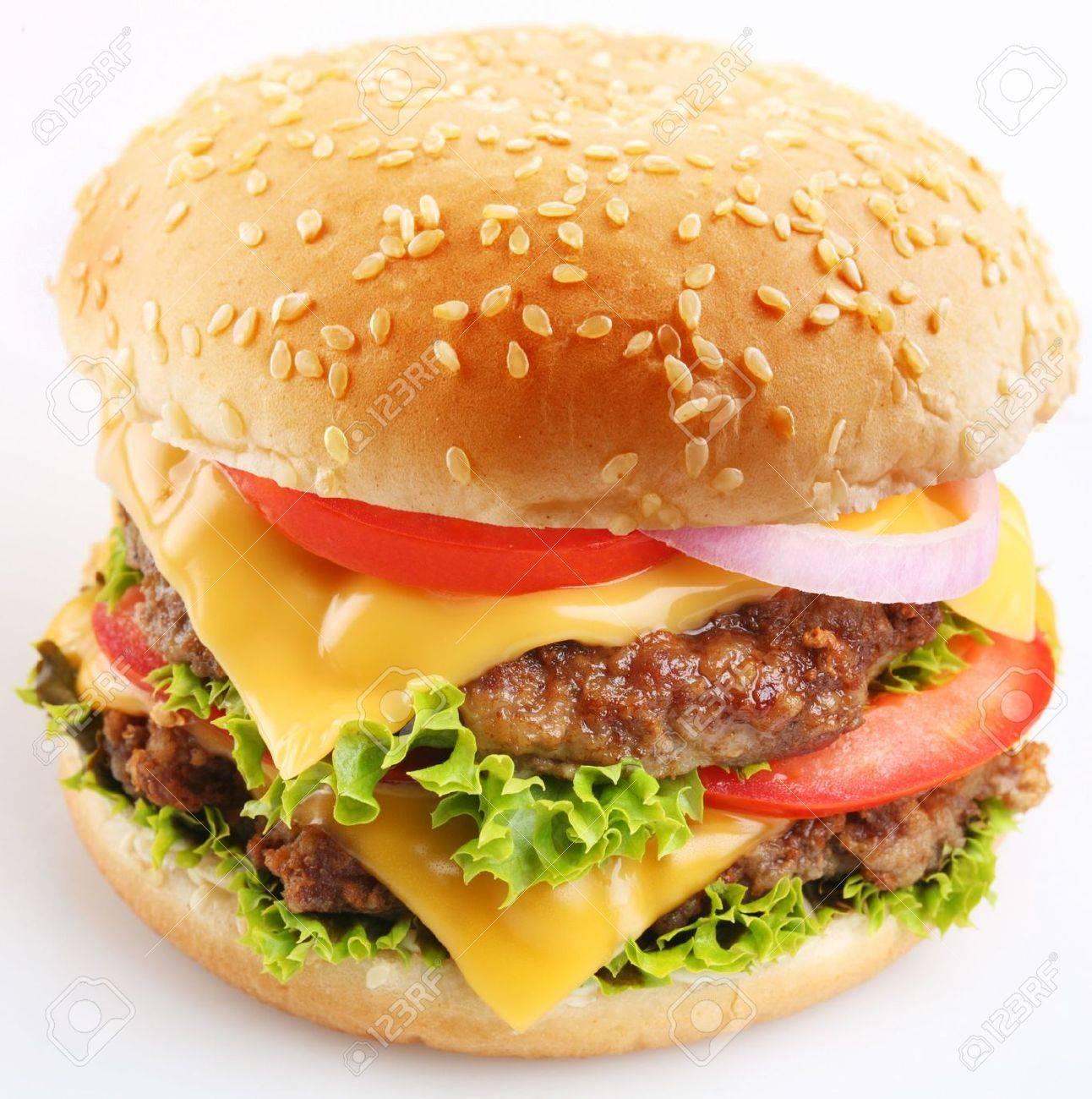Cheeseburger on a white background Stock Photo - 6305922