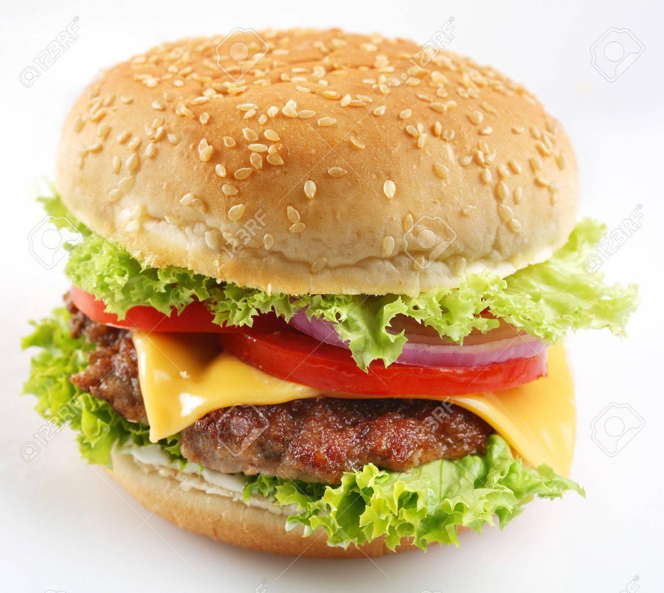 Cheeseburger on a white background Stock Photo - 6305920