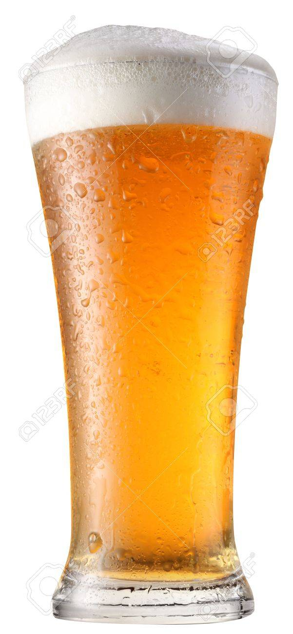 glass of beer on a white background Stock Photo - 6606814