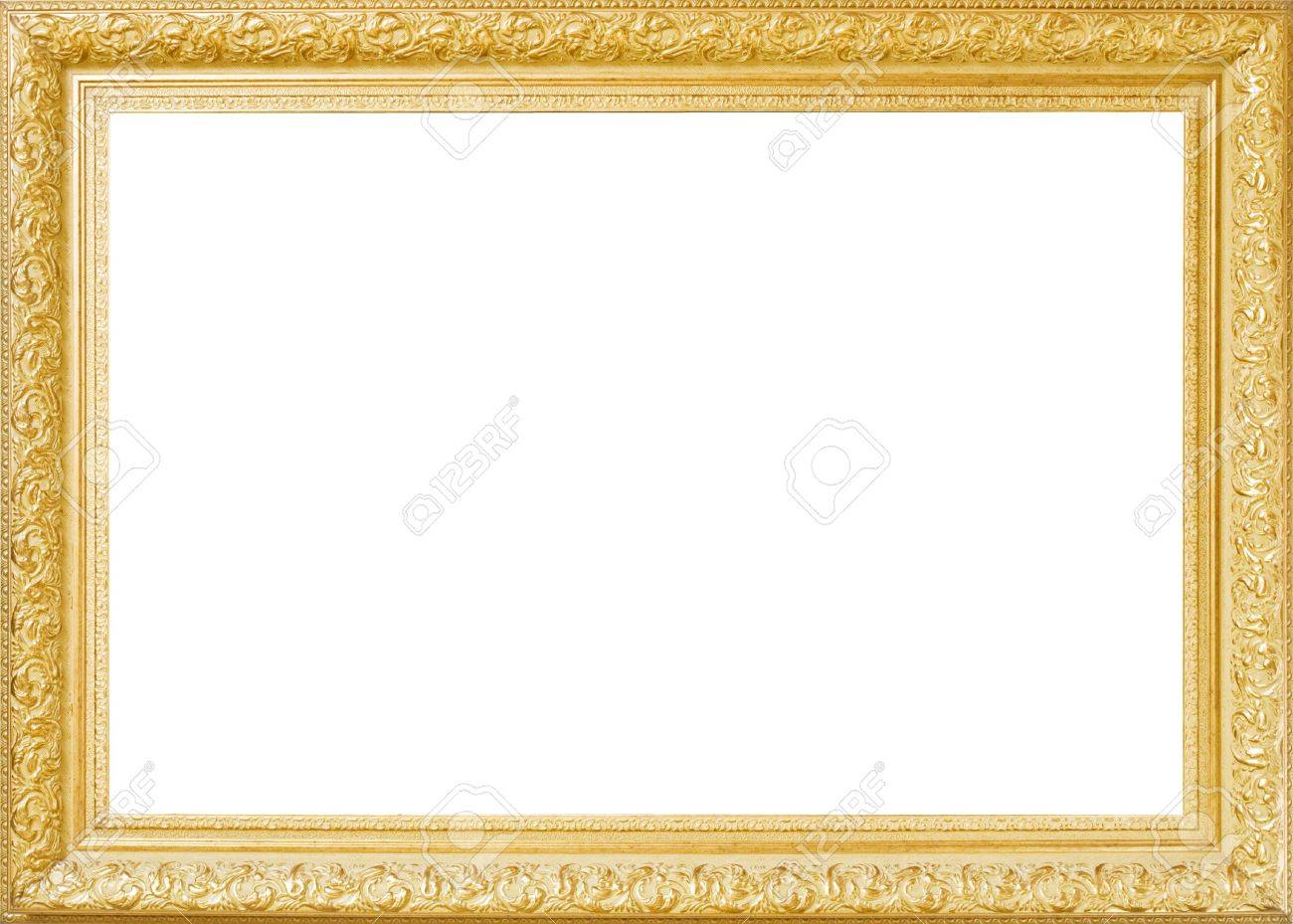 Baget Old Frame Isolated On White Stock Photo, Picture And Royalty ...