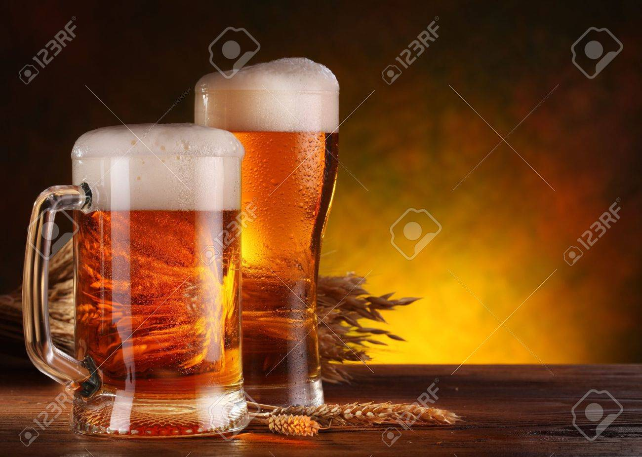 Still Life with a draft beer by the glass. Stock Photo - 11373552